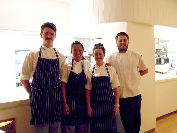 Woody Theurel and his chefs