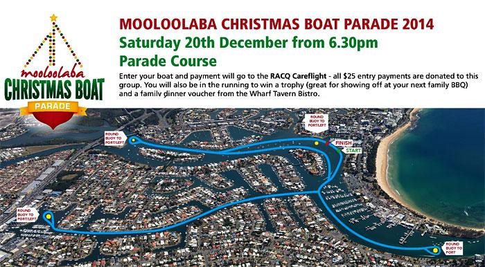 Mooloolaba Christmas Boat Parade 2014 route