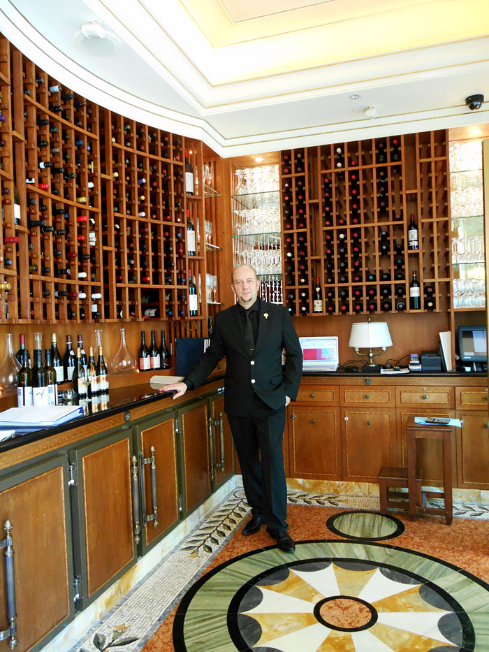 Sommelier Cyril Thevenet at Palazzo Versace