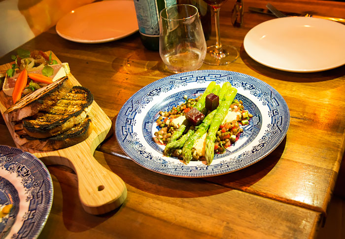 Asparagus and Lentils